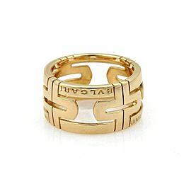 Bvlgari Parentesi 18k Yellow Gold 11.5mm Dome Band Ring Size 52 US 5.5