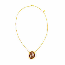 Gurhan Elements Moonstone 24k Gold Pendant & Chain