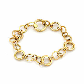 Tiffany & Co. 18k Yellow Gold Circle Chain Link Bracelet