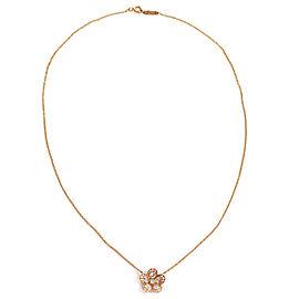 Tiffany & Co. Enchant Garden Flower Diamond 18k Rose Gold Pendant & Chain