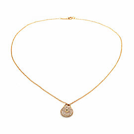 Tiffany & Co. Diamond 18k Rose Gold Classic Round Padlock Pendant & Chain
