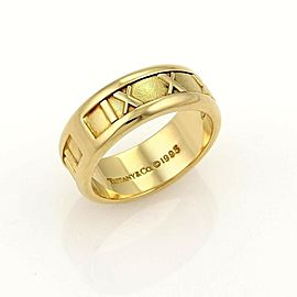 Tiffany & Co. Atlas Roman Numeral 18k Yellow Gold Band Ring