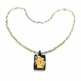 Carrera y Carrera 18k Yellow Gold Stainless Steel Adam & Eve Pendant & Chain