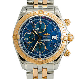 Breitling Chronomat Evolution C13356 Mens Automatic Watch Rose Box & Papers 43mm