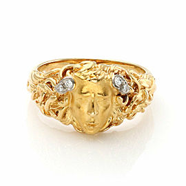 Carrera y Carrera Medusa Diamond 18k Gold Face Ring