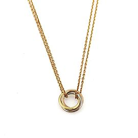 Cartier Trinity 18k Tricolor Gold Triple Mini Ring Pendant