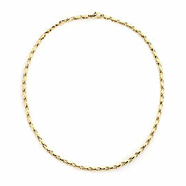 Bulgari 18k Yellow Gold Fancy Link Chain Necklace