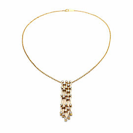 Ilias Lalaounis 1.30ct Diamond 18k Yellow Gold Multi Strand Dangle Pendant Chain
