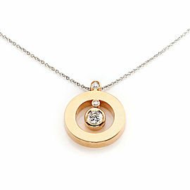 Roberto Coin Cento Diamond 18k Two Tone Gold Round Pendant