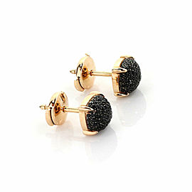 Tiffany & Co. Picasso Sugar Stack Black Spinel 18k Rose Gold Stud Earrings