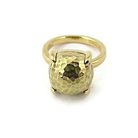 Tiffany & Co. Picasso Large Sugar Stack Hammered 18k Yellow Gold Ring