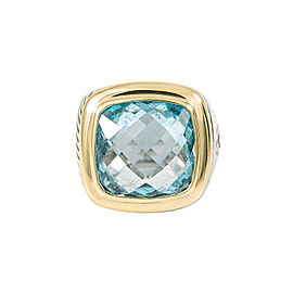 DAVID YURMAN 18K Gold 925 Silver ALBION Blue Topaz Ring 16.5 Grams Size 6.5