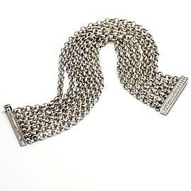 Talento 18k White Gold Multi-Chain Diamond Bracelet