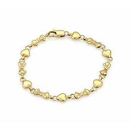 Tiffany & Co. 18k Yellow Gold Hearts & Bow Link Bracelet