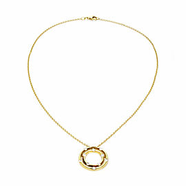 Roberto Coin Diamond 18k Yellow Gold Double Circle Pendant