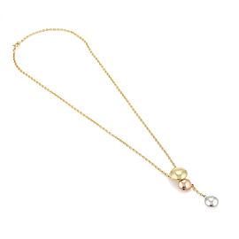 Cartier 18k Tri Color Gold Triple Graduated Discs Drop Pendant