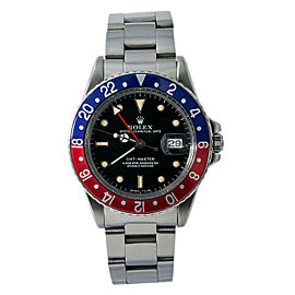 Rolex GMT-Master Pepsi 16750 8.3 Million Serial Quickset Gloss Dial Watch 40mm