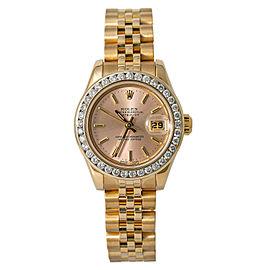 Rolex Lady Datejust 179178 New Style Jubilee Heavy bracelet Silverpink Dial 27mm