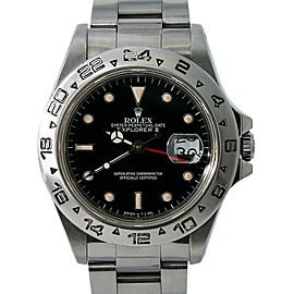 Rolex Explorer II 16550 R Serial Men Automatic Watch Box&Papers Black Dial 40mm