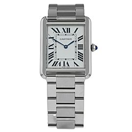 Cartier Tank Solo 3169 W5200014 Mens Quartz Watch With Box & Papers 28mm