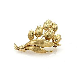 Tiffany & Co. Tulip Flowers Bouquet 18k Yellow Gold Brooch Pin