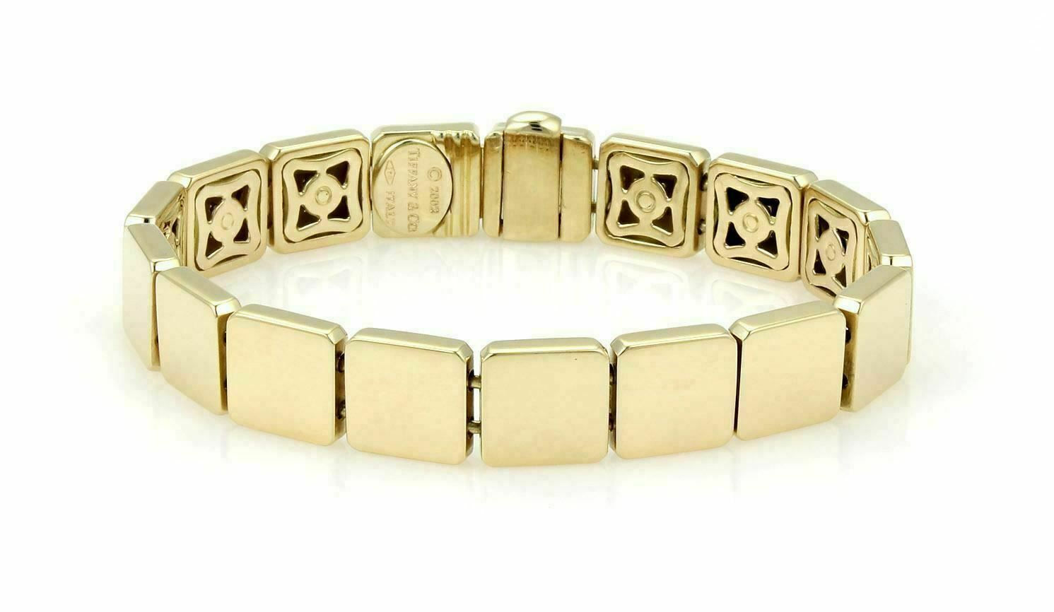 b4f80d4da8c88 Tiffany & Co. 18k Yellow Gold Solid Square Link Bracelet