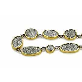 Gurhan Druzy Amphorous Galaxy Sterling 24k Gold Necklace Rt. $6,020