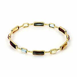 Ippolita Rock Candy Gelato Multicolor Gems 18k Yellow Gold Bangle