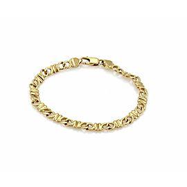 Tiffany & Co. 18k Yellow Gold 6mm Wide Fancy Link Bracelet