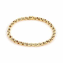 Cartier Epi Fancy Beaded Flex Link 18k Yellow Gold Bracelet w/Paper