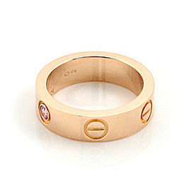 Cartier Love 1 Pink Sapphire 18k Rose Gold 5.5mm Band Ring Size 52 US 6 w/Paper