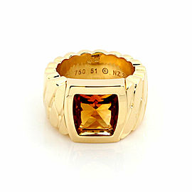 Cartier La Dona Citrine 18k Yellow Gold Band Ring Size 51 US 5.5