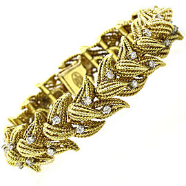 La Triomphe 1.00 Carat 18k Yellow Gold Diamond Link Bracelet