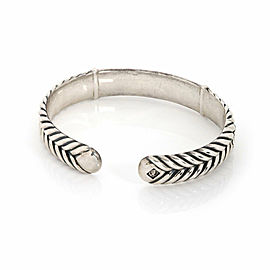 David Yurman Men's Sterling Silver 13mm Wide ID Bar Cable Cuff Bracelet