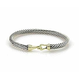 David Yurman Sterling Silver 14k Yellow Gold Cable Hook Bangle