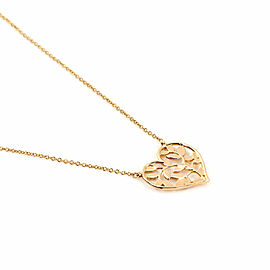 Tiffany & Co. Picasso Olive Leaf 18k Rose Gold Heart Pendant & Chain