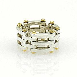 Tiffany & Co. Gatelink Sterling 18k Yellow Gold Flex Band Ring