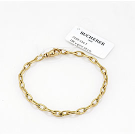 Bucherer Marquise Shape 18k Yellow Gold Link Bracelet