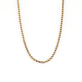 "Bucherer 18k Pink Gold Fancy 2mm Loop Link Chain 28"" long"