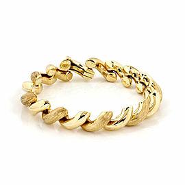 San Marco Macaroni Link 14k Yellow Gold Bracelet
