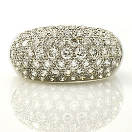 2.25 Carat 18k White Gold Pave Diamond Dome Ring