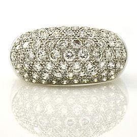 2.25 Carat 18k White Gold Pave Diamond Dome Ring