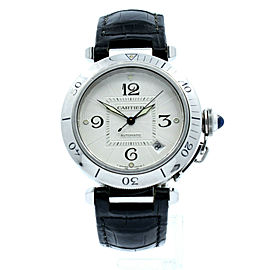 Cartier Pasha Stainless Steel Silver Dial Arabic 38mm Automatic Men's Watch