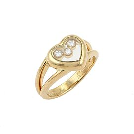 Chopard Happy Diamond 18k Yellow Gold Heart Ring