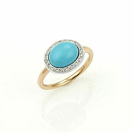 Mimi Diamond & Turquoise 18k Yellow Gold Cocktail Ring
