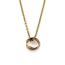 Cartier Trinity 18k Tri-Color Gold Mini Ring Pendant Necklace