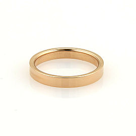 Tiffany & Co. Signature 18k Rose Gold 3mm Wide Band Ring Size 7