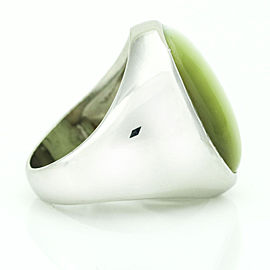25.00 Carat Platinum GIA Cat's Eye Chrysoberyl Stone Signet Ring