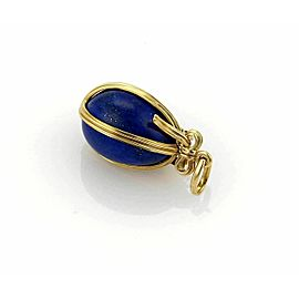 Tiffany & Co. Schlumberger Studios 18k Yellow Gold Lapis Egg Pendant