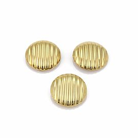 Mayor's 14k Yellow Gold Ribbed Round 3 Button Clip On Stud Cover
